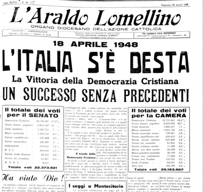 Araldo - testata elezioni 1948