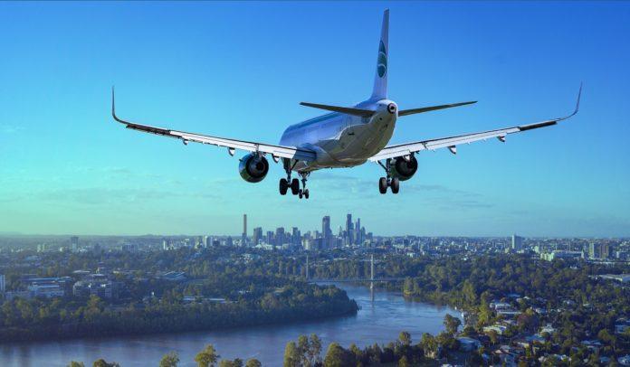 Giovani all'estero - aereo in atterraggio