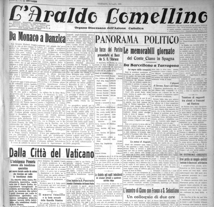 ITA DV L'Araldo 14-7-1939 verso la seconda guerra mondiale