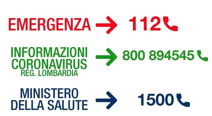 Coronavirus - numeri da contattare