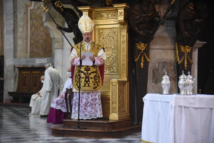 messa crismale vigevano 2020 vescovo gervasoni