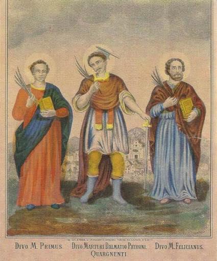 San Dalmazio con i Santi Primo e Feliciano