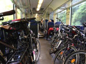 biciclette treno