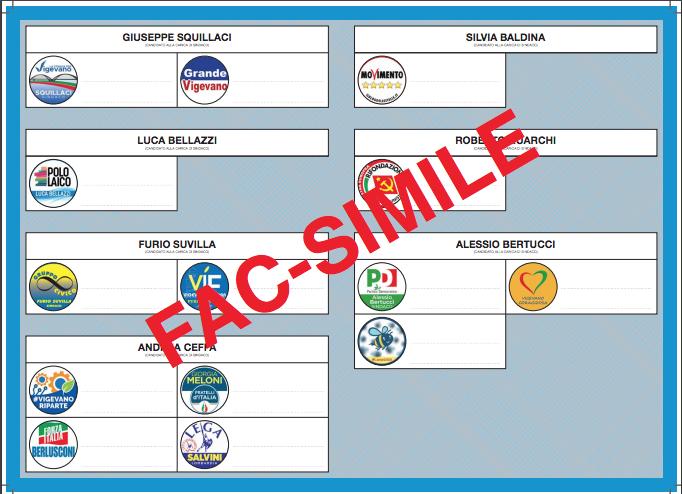 03 VIG Elezioni Vigevano 2020 - scheda elettorale fac simile