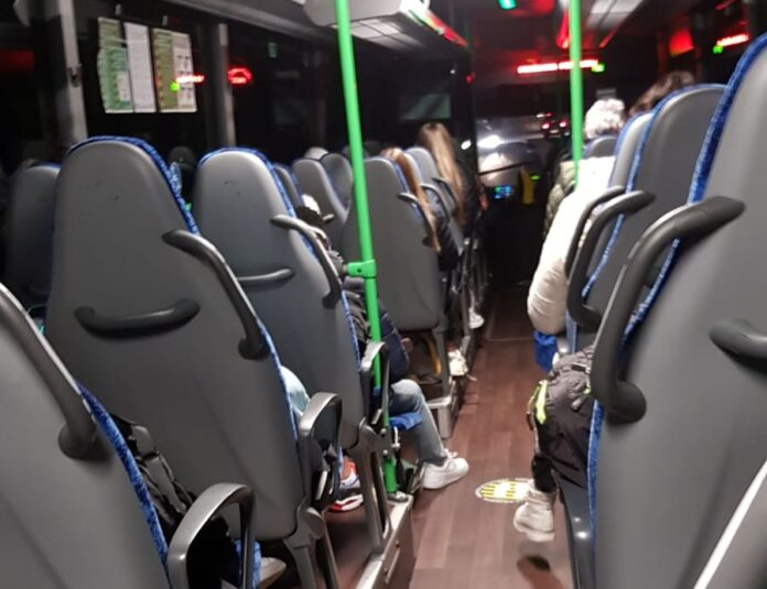 PP Coronavirus Pavia trasporti autobus