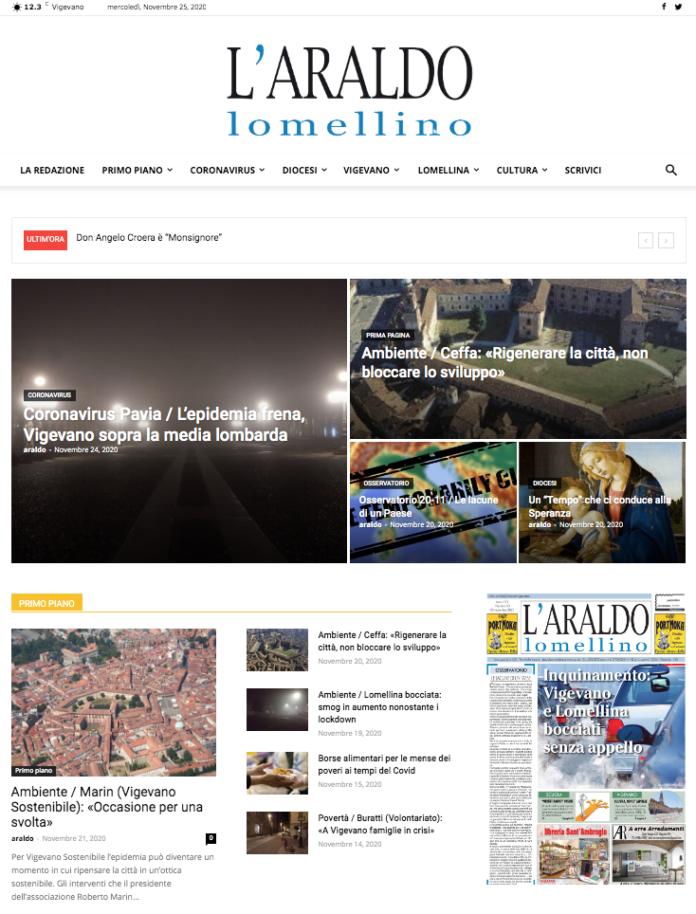 11 Sito web Araldo - homepage