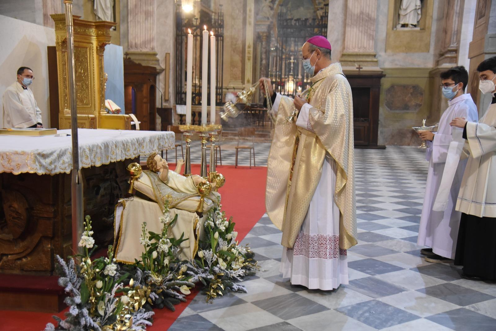 Diocesi Vigevano Natale 2020 - vescovo Maurizio Gervasoni messa vigilia