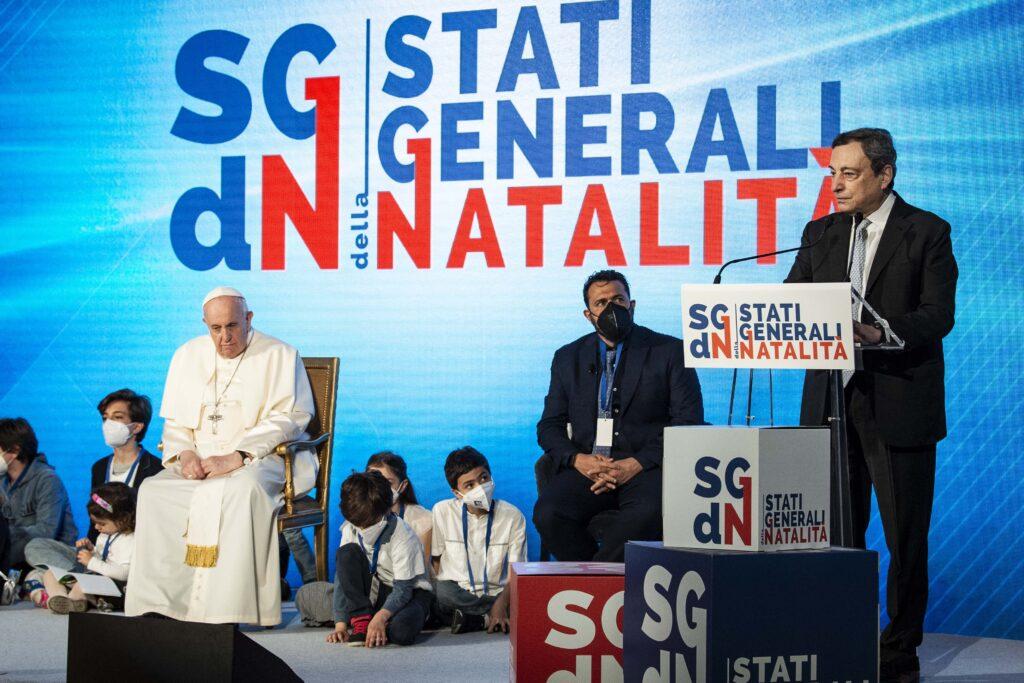 02 PP Denatalità Stati generali - Papa Francesco Draghi bambini