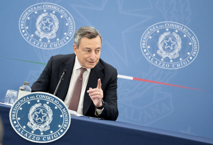 COR Conferenza stampa Green Pass - Draghi